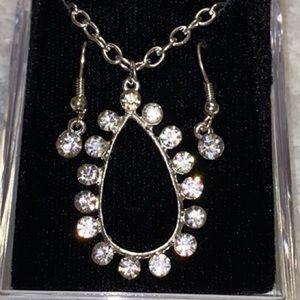 """Jewelry - Tear Drop 24"""" Necklace & Earrings"""